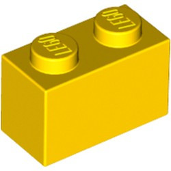 Yellow Brick 1 x 2 - used