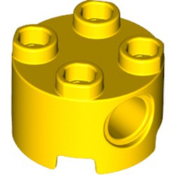 Yellow Brick, Round 2 x 2 with Pin Holes