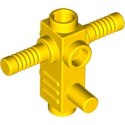 Yellow Minifigure, Utensil Tool Chainsaw Body with Handles and Studs