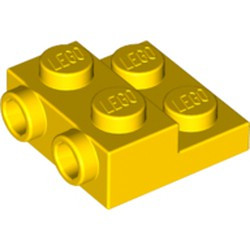 Yellow Plate, Modified 2 x 2 x 2/3 with 2 Studs on Side