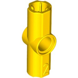 Yellow Technic, Axle and Pin Connector Angled #2 - 180 degrees - new