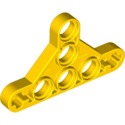 Yellow Technic, Liftarm Triangle Thin, Type II - used