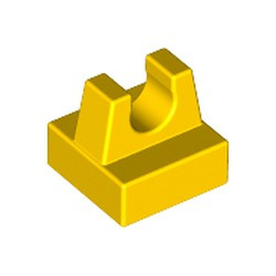 Yellow Tile, Modified 1 x 1 with Clip - used