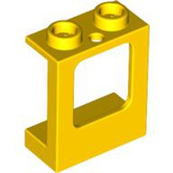 Yellow Window 1 x 2 x 2 Plane, Single Hole Top and Bottom for Glass - new