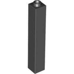 Black Brick 1 x 1 x 5 - Blocked Open Stud or Hollow Stud - used