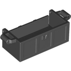 Black Container, Treasure Chest Bottom - Slots in Back