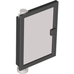 Black Door 1 x 4 x 5 Left with Trans-Black Glass