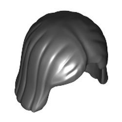 Black Minifigure, Hair Female - used