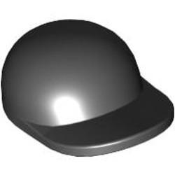 Black Minifigure, Headgear Cap - Short Curved Bill - used