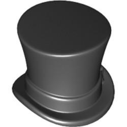 Black Minifigure, Headgear Hat, Top Hat with Ribbon - new