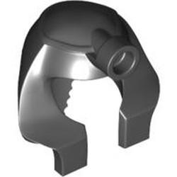 Black Minifigure, Headgear Headdress Mummy, Rounder Inside Front Stud, Solid Inside Stud Receptacle - used
