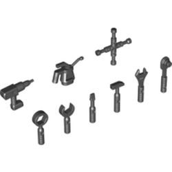 Black Minifigure, Utensil Tool Oil Can - Ribbed Handle
