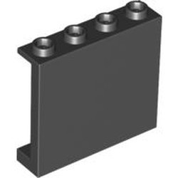 Black Panel 1 x 4 x 3 with Side Supports - Hollow Studs