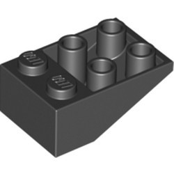 Black Slope, Inverted 33 3 x 2 without Connections between Studs - used