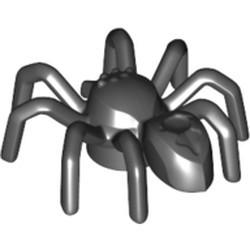 Black Spider with Elongated Abdomen - new