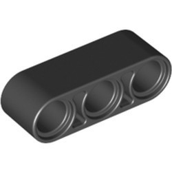 Black Technic, Liftarm 1 x 3 Thick - new