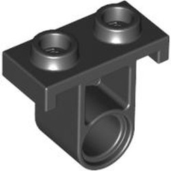 Black Technic, Pin Connector Plate with One Hole (Single on Bottom)