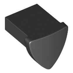 Black Tile, Modified 1 x 1 with Tooth / Ear Vertical, Triangular - new
