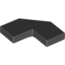 Black Tile, Modified Facet 2 x 2 Corner with Cut Corner - new