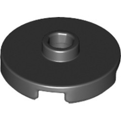 Black Tile, Round 2 x 2 with Open Stud - new