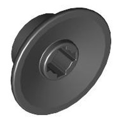 Black Train Wheel Small, Hole Notched for Wheels Holder Pin