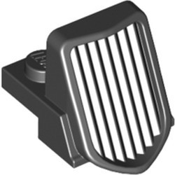 Black Vehicle, Grille 1 x 2 x 2 2/3 Sloping with Chrome Outline Pattern