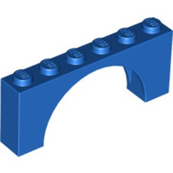 Blue Arch 1 x 6 x 2 - Medium Thick Top without Reinforced Underside