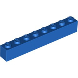Blue Brick 1 x 8 - new