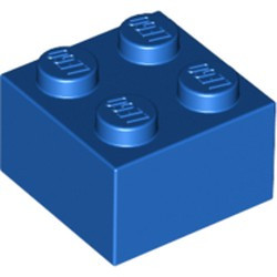 Blue Brick 2 x 2 - used