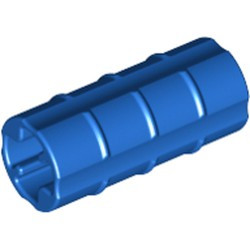 Blue Technic, Axle Connector 2L (Ridged with x Hole x Orientation) - used