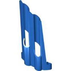 Blue Technic, Panel Fairing # 3 Large Long, Large Holes, Side A - used