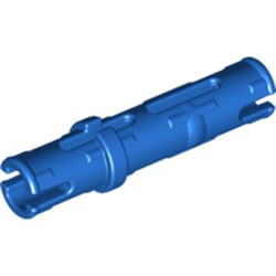 Blue Technic, Pin 3L with Friction Ridges Lengthwise - used