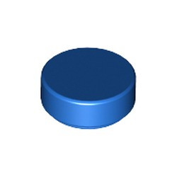 Blue Tile, Round 1 x 1 - used