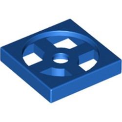 Blue Turntable 2 x 2 Plate, Base - new