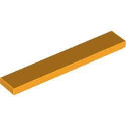 Bright Light Orange Tile 1 x 6 - used