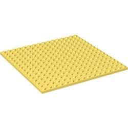 Bright Light Yellow Plate 16 x 16