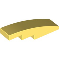 Bright Light Yellow Slope, Curved 4 x 1 - new