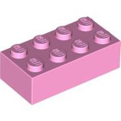Bright Pink Brick 2 x 4 - new
