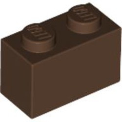 Brown Brick 1 x 2 - used
