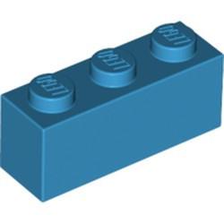 Dark Azure Brick 1 x 3 - new