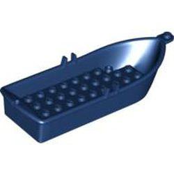 Dark Blue Boat, 14 x 5 x 2 with Oarlocks and 2 Hollow Inside Studs