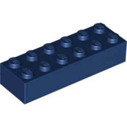 Dark Blue Brick 2 x 6 - new