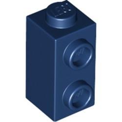 Dark Blue Brick, Modified 1 x 1 x 1 2/3 with Studs on 1 Side - new