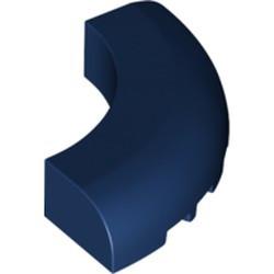 Dark Blue Brick, Round Corner 5 x 5 x 1 without Studs - new