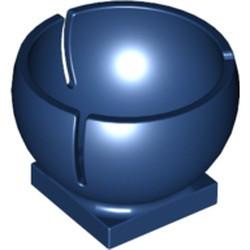 Dark Blue Cylinder Hemisphere 3 x 3 Ball Turret Socket with 2 x 2 Base