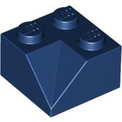 Dark Blue Slope 45 2 x 2 Double Concave - new