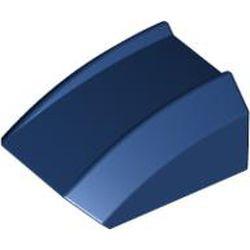 Dark Blue Slope, Curved 2 x 2 Lip