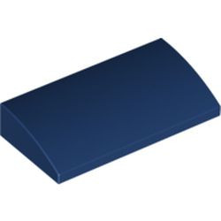 Dark Blue Slope, Curved 2 x 4 x 2/3 with Bottom Tubes