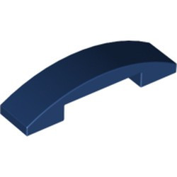 Dark Blue Slope, Curved 4 x 1 Double - used