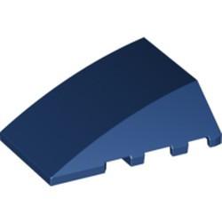 Dark Blue Wedge 4 x 4 No Studs